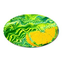 Zitro Abstract Sour Texture Food Oval Magnet