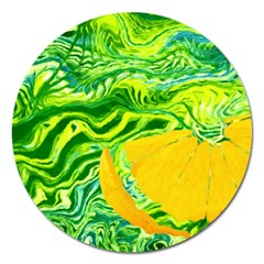 Zitro Abstract Sour Texture Food Magnet 5  (round)
