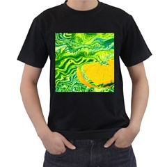 Zitro Abstract Sour Texture Food Men s T Shirt (black) (two Sided)