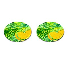 Zitro Abstract Sour Texture Food Cufflinks (oval)
