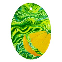 Zitro Abstract Sour Texture Food Oval Ornament (two Sides)