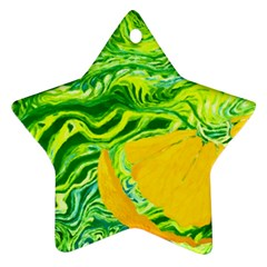 Zitro Abstract Sour Texture Food Star Ornament (two Sides)