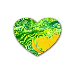 Zitro Abstract Sour Texture Food Heart Coaster (4 Pack)