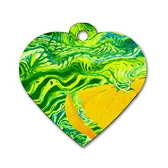 Zitro Abstract Sour Texture Food Dog Tag Heart (one Side)