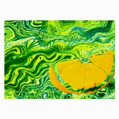 Zitro Abstract Sour Texture Food Large Glasses Cloth (2 Side)