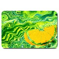 Zitro Abstract Sour Texture Food Large Doormat