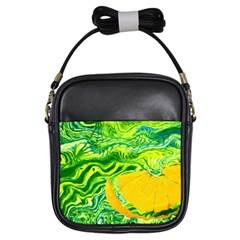 Zitro Abstract Sour Texture Food Girls Sling Bags