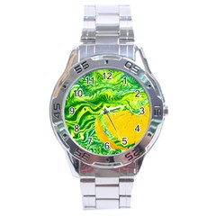 Zitro Abstract Sour Texture Food Stainless Steel Analogue Watch
