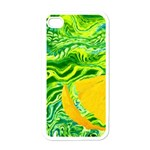 Zitro Abstract Sour Texture Food Apple iPhone 4 Case (White) Front
