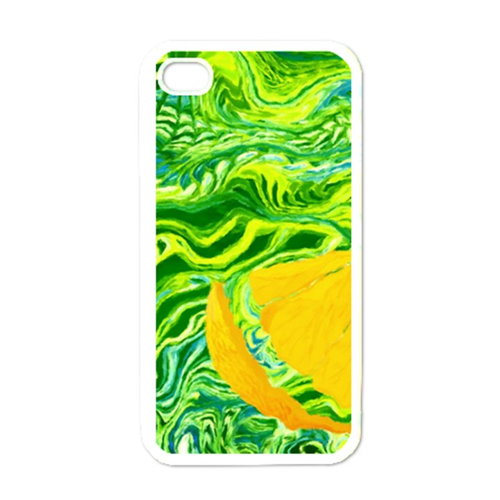 Zitro Abstract Sour Texture Food Apple iPhone 4 Case (White)