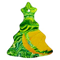 Zitro Abstract Sour Texture Food Christmas Tree Ornament (2 Sides)