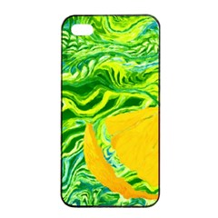 Zitro Abstract Sour Texture Food Apple Iphone 4/4s Seamless Case (black)