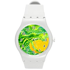 Zitro Abstract Sour Texture Food Round Plastic Sport Watch (m)