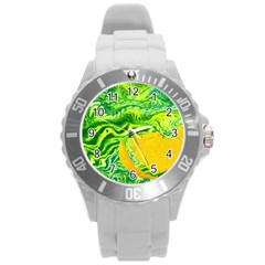Zitro Abstract Sour Texture Food Round Plastic Sport Watch (l)