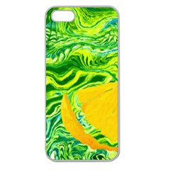 Zitro Abstract Sour Texture Food Apple Seamless Iphone 5 Case (clear)