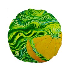 Zitro Abstract Sour Texture Food Standard 15  Premium Round Cushions