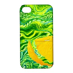 Zitro Abstract Sour Texture Food Apple Iphone 4/4s Hardshell Case With Stand