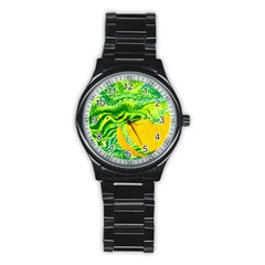 Zitro Abstract Sour Texture Food Stainless Steel Round Watch
