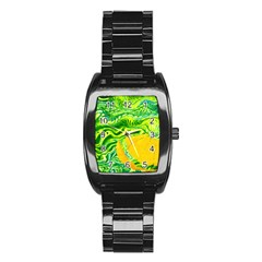 Zitro Abstract Sour Texture Food Stainless Steel Barrel Watch