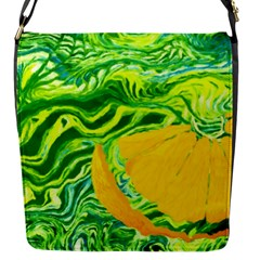 Zitro Abstract Sour Texture Food Flap Messenger Bag (s)