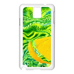 Zitro Abstract Sour Texture Food Samsung Galaxy Note 3 N9005 Case (white)