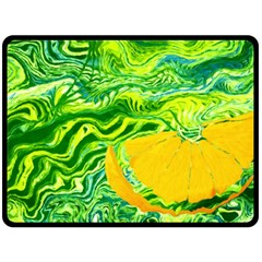 Zitro Abstract Sour Texture Food Double Sided Fleece Blanket (large)