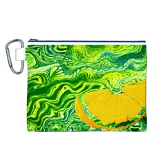 Zitro Abstract Sour Texture Food Canvas Cosmetic Bag (l)
