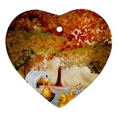 Art Kuecken Badespass Arrangemen Ornament (Heart)