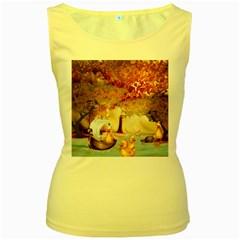 Art Kuecken Badespass Arrangemen Women s Yellow Tank Top