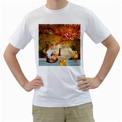 Art Kuecken Badespass Arrangemen Men s T Shirt (white) (two Sided)