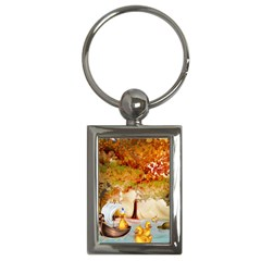 Art Kuecken Badespass Arrangemen Key Chains (rectangle)