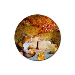 Art Kuecken Badespass Arrangemen Rubber Coaster (round)