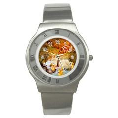 Art Kuecken Badespass Arrangemen Stainless Steel Watch