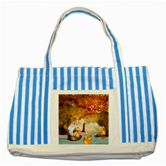 Art Kuecken Badespass Arrangemen Striped Blue Tote Bag