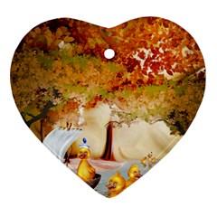 Art Kuecken Badespass Arrangemen Heart Ornament (2 Sides)