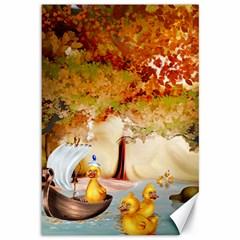 Art Kuecken Badespass Arrangemen Canvas 12  X 18