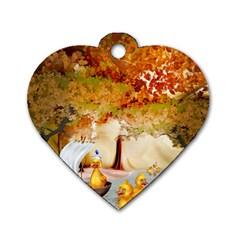 Art Kuecken Badespass Arrangemen Dog Tag Heart (One Side)