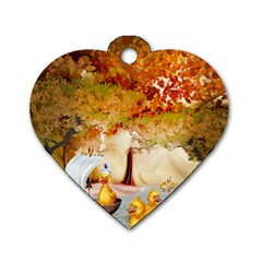 Art Kuecken Badespass Arrangemen Dog Tag Heart (two Sides)