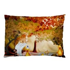 Art Kuecken Badespass Arrangemen Pillow Case (two Sides)