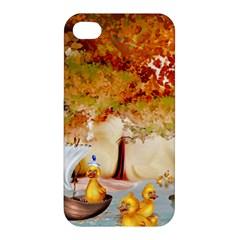 Art Kuecken Badespass Arrangemen Apple Iphone 4/4s Premium Hardshell Case
