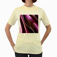 Fractal Mathematics Abstract Women s Yellow T Shirt