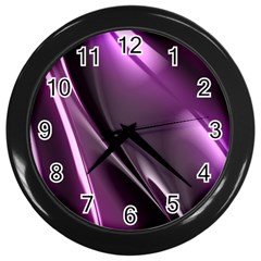 Fractal Mathematics Abstract Wall Clocks (Black)