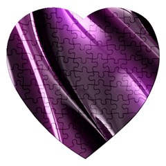 Fractal Mathematics Abstract Jigsaw Puzzle (heart)