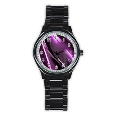 Fractal Mathematics Abstract Stainless Steel Round Watch
