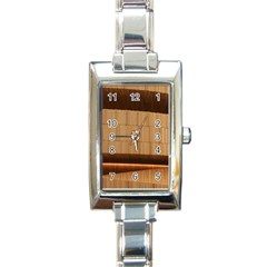 Architecture Art Boxes Brown Rectangle Italian Charm Watch