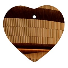 Architecture Art Boxes Brown Ornament (heart)