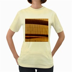 Architecture Art Boxes Brown Women s Yellow T Shirt