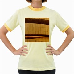 Architecture Art Boxes Brown Women s Fitted Ringer T Shirts