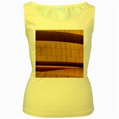 Architecture Art Boxes Brown Women s Yellow Tank Top