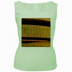 Architecture Art Boxes Brown Women s Green Tank Top